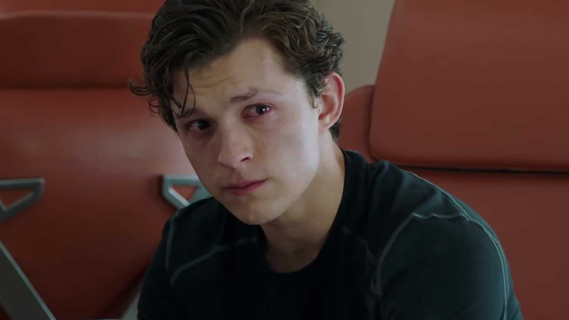 spider-man far from home crying