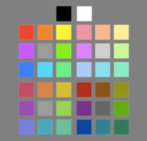 Grid of colors to match with an album cover.