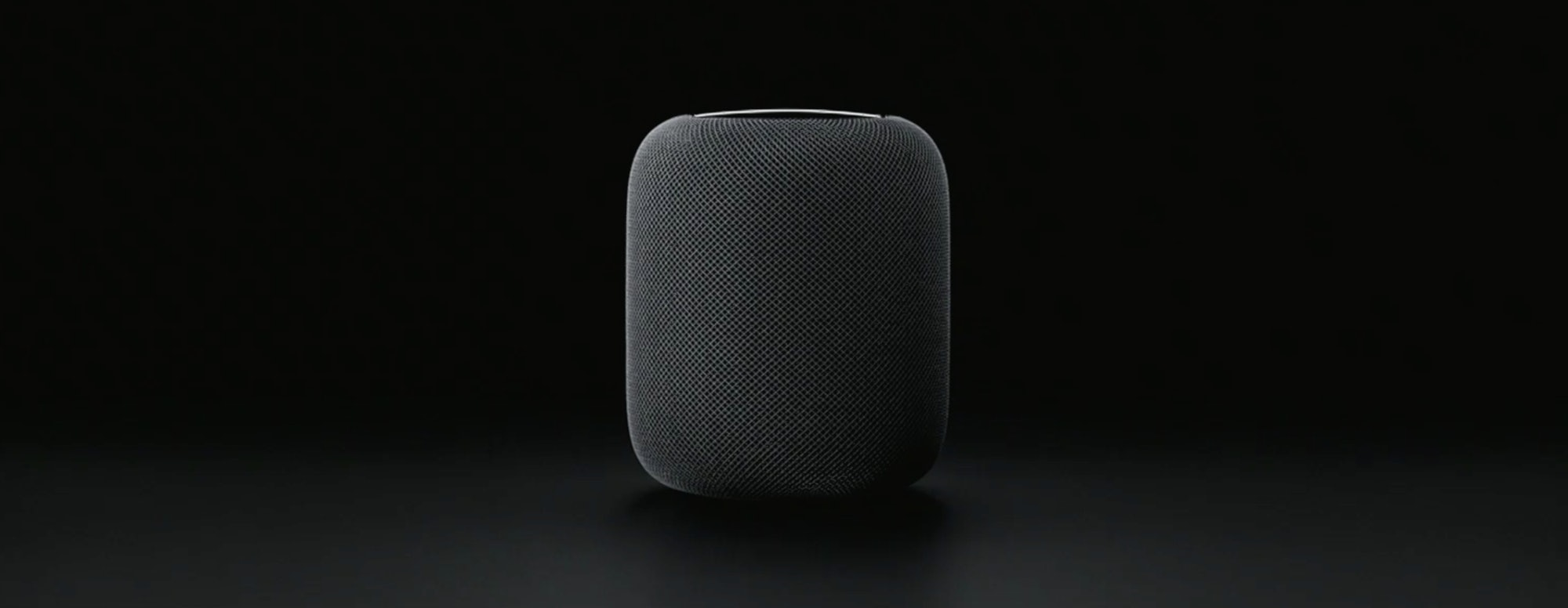 HomePod in black.