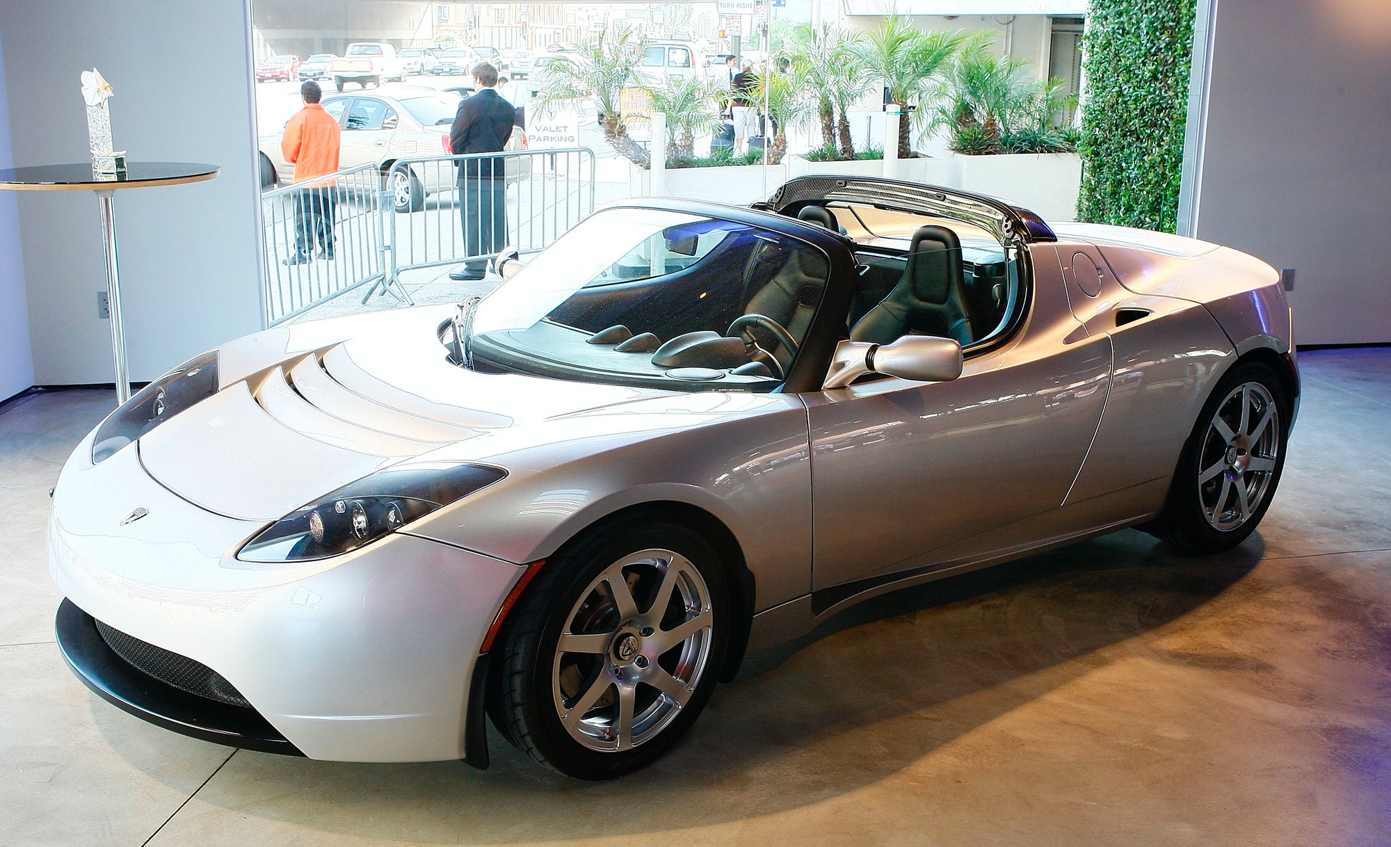 The Tesla Roadster.