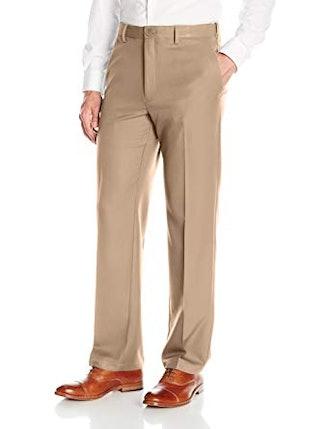 Haggar Men's Cool 18 Hidden Expandable-Waist Pant