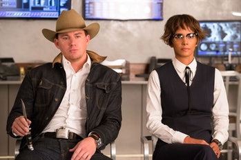 Channing Tatum as Tequila alongside Halle Berry's Ginger Ale.