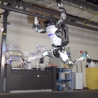 This parkour robot by Boston Dynamics is definitely more athletic than you