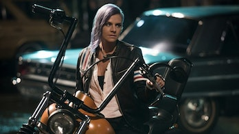 Eliza Coupe is Tiger in 'Future Man'.