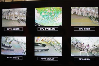 The live feed as shown on the monitor.