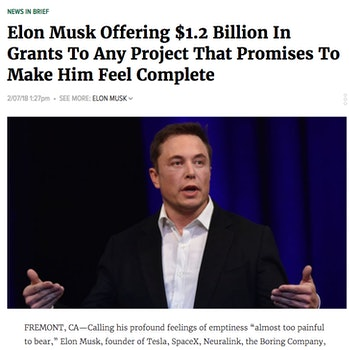Elon Musk The Onion