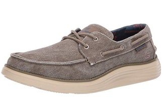 Skechers Men's Status 2.0-Lorano Moc Toe Canvas Deck Shoe Oxford
