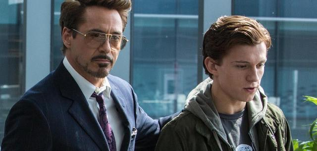 Tony Stark and Peter Parker in 'Spider-Man: Homecoming.'