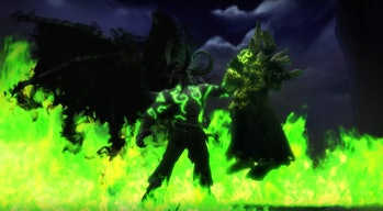 Illidan killing Gul'dan