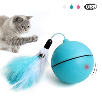 Smart Interactive Cat Toys - Automatic 360 Degree Self Rotating Ball