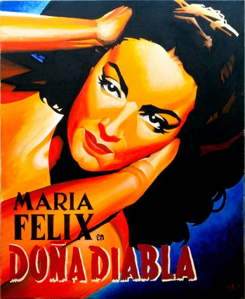 Promotional poster for 'Doña Diabla'