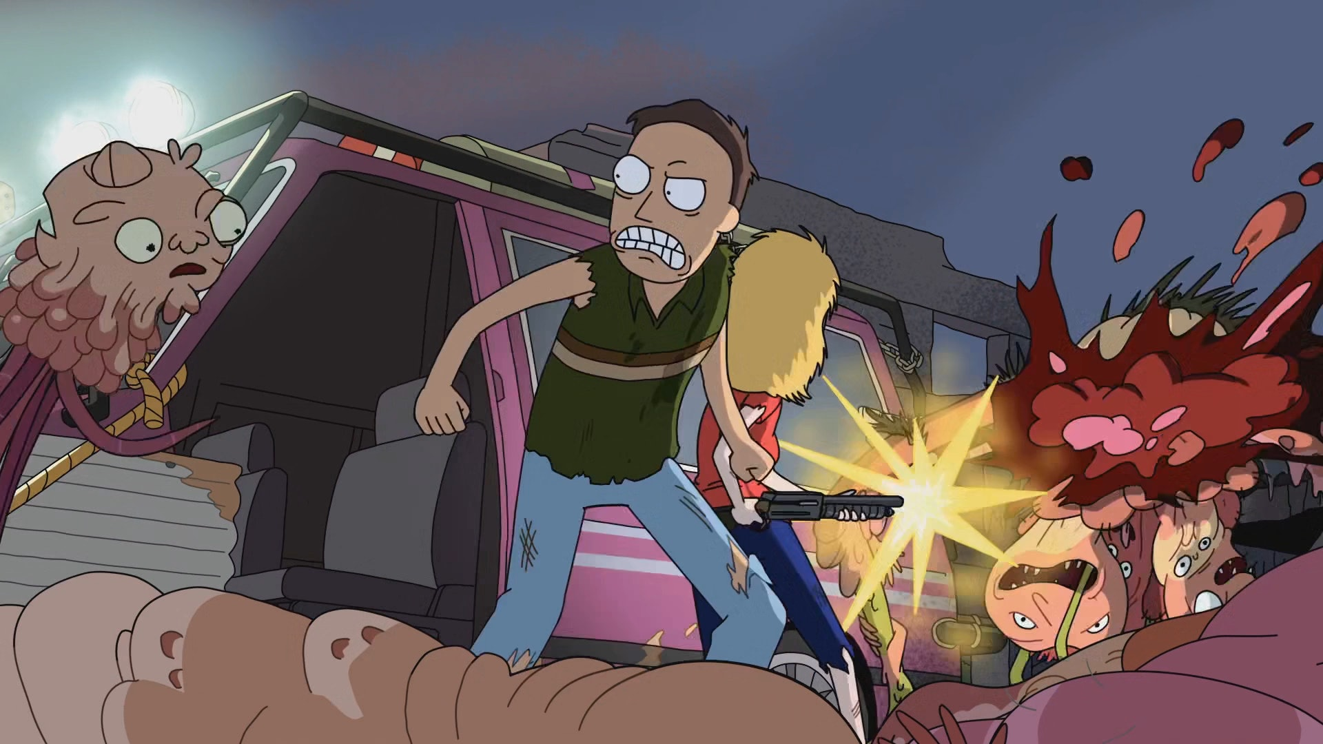 """Jerry Smith kicks """"Cronenberg"""" butt in 'Rick and Morty' episode """"Rick Potion #9"""""""