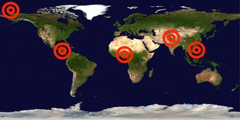 climate change war conflict zone map