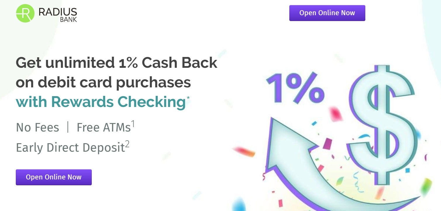 Radius Bank Rewards Checking