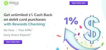 Radius Bank Rewards Checking