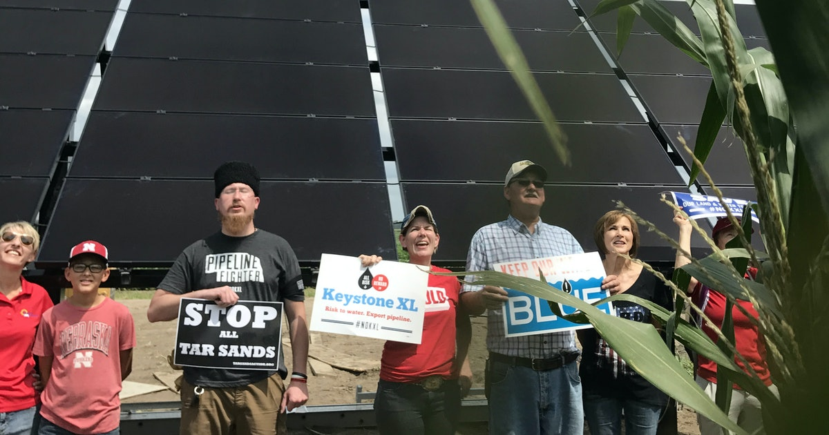 Photos Show Solar Panels Built to Protest Keystone XL Pipeline