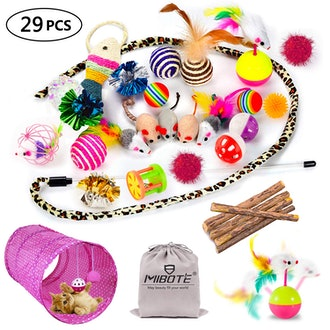 29Pcs Cat Toys Kitten Toys Assortments