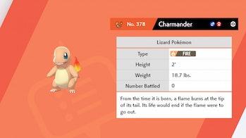 charmander pokemon sword and shield
