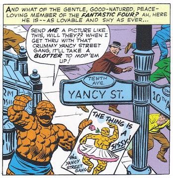 the thing marvel comics yancy street gang