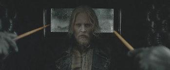 Johnny Depp as Gellert Grindelwald in 'Fantastic Beasts: The Crimes of Grindelwald'.