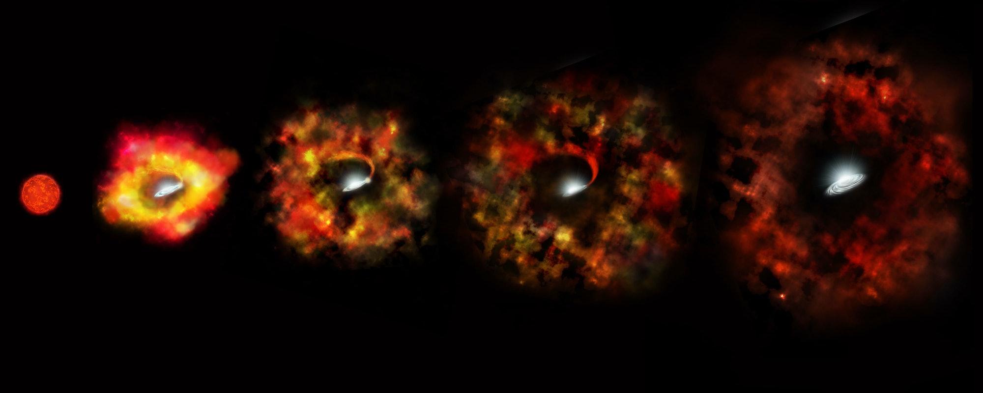 NASA Hubble black hole supernova