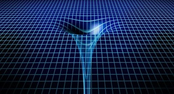 A black hole's gotta go somewhere, right? The fabric of spacetime
