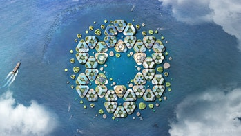 Oceanix floating city