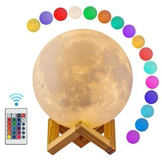 3D Print Moon Globe Lamp