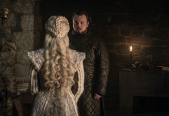 Sam (John Bradley) and Daenerys (Emilia Clarke) on 'Game of Thrones).
