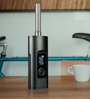 "Yeah the Arizer Solo II is pretty tall for a ""portable vape."""