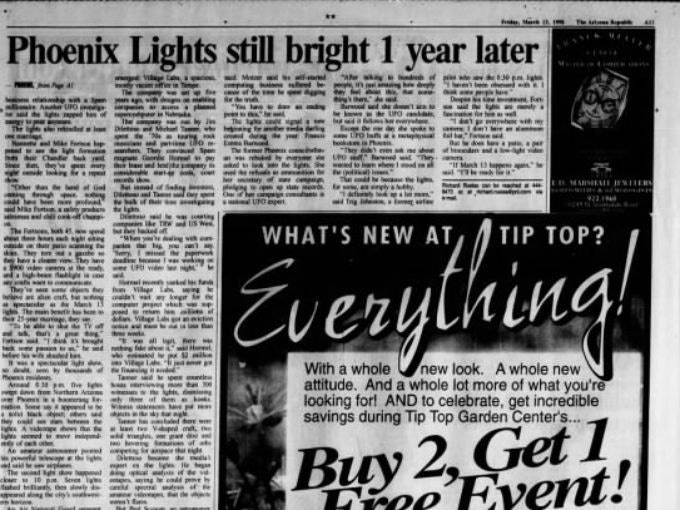 Even a year later, 'The Arizona Republic' continued to report on the Lights.