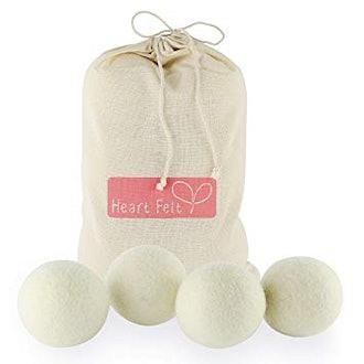 Heart Felt Wool Dry Balls - 4 Pack