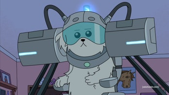Snuffles in 'Rick and Morty'.