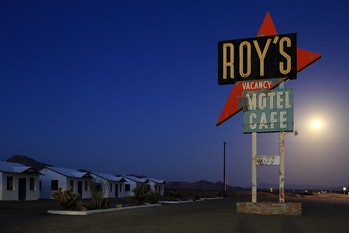 Roy's Motel and Cafe in Amboy, California, along Route 66.