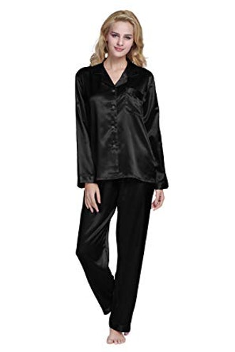 Tony & Candice WOmen's Classic Satin Pajama Set