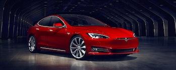 A Tesla Model S.