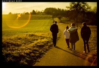 Having a walk