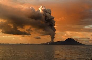 Tavurvur volcano edit