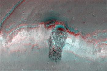 Mars landslide topography
