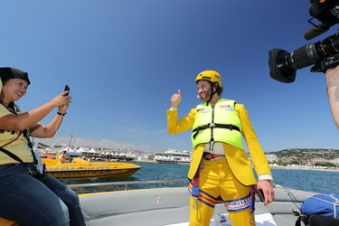 CANNES, FRANCE - MAY 16: T.J Miller arrives at 'The Emoji Movie' photo call at the start of the 70th...