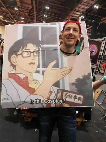 cosplay pigeon meme