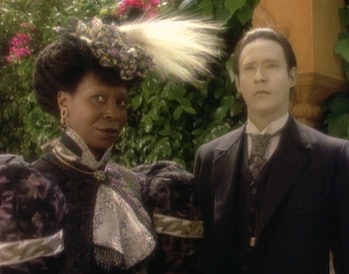 image from Star Trek: The Next Generation episode Time's Arrow Data and Guinan