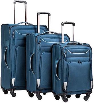 Coolife Luggage 3-Piece Softshell Suitcase Set