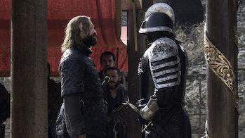 The Hound (Rory McCann) and The Mountain (Hafþór Júlíus Björnsson) in 'Game of Thrones' Season 6