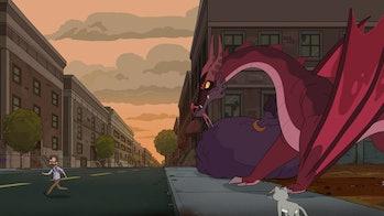rick and morty dragon