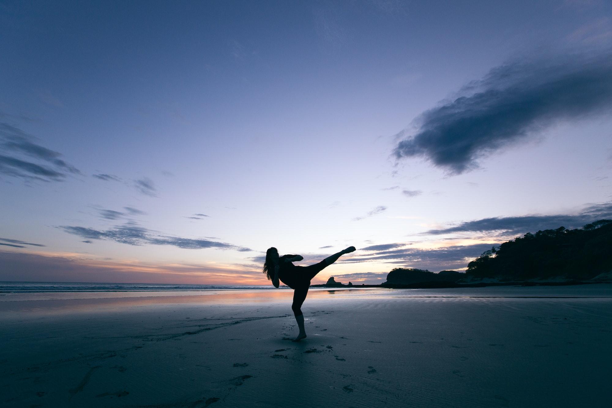 exercise on the beach