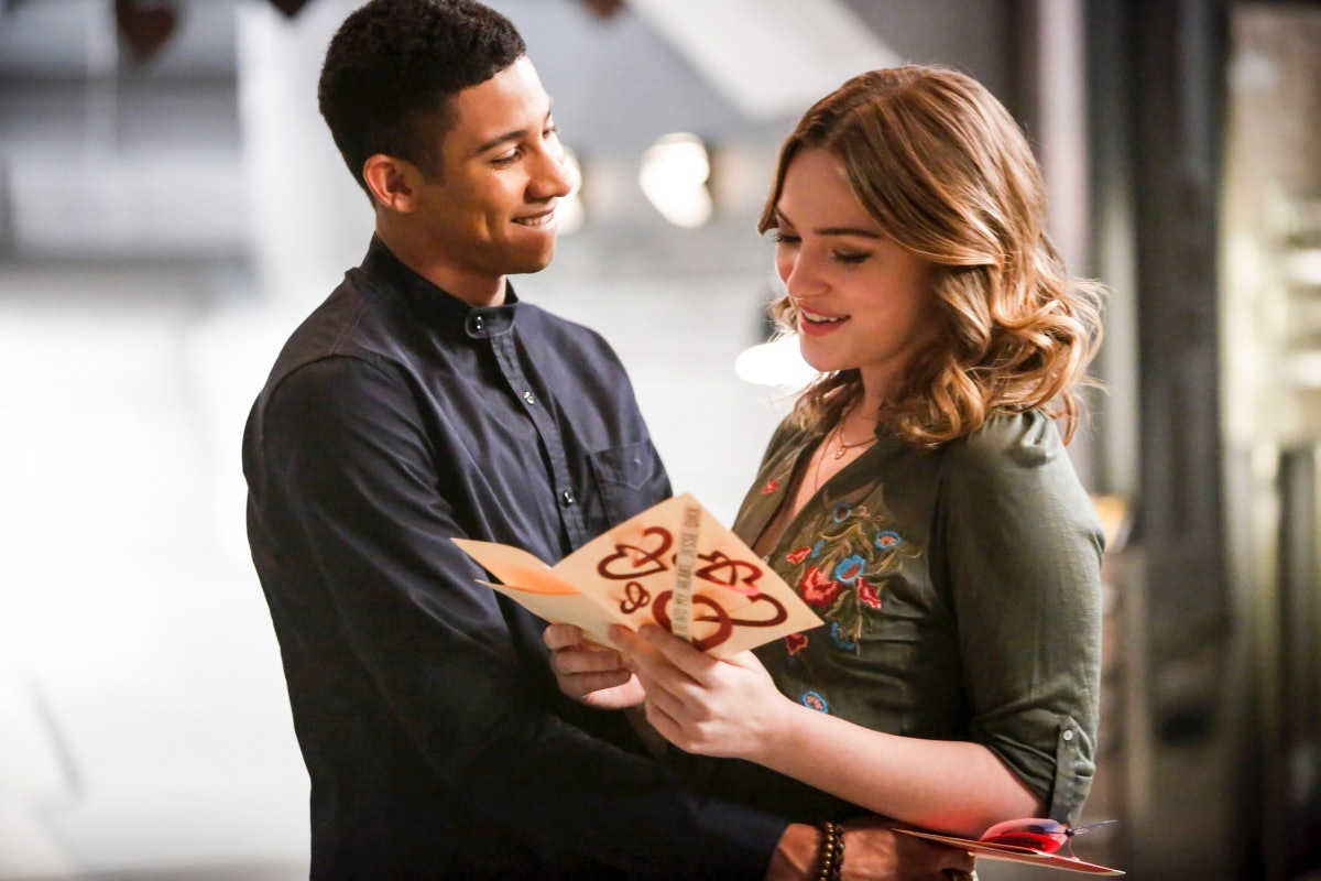 Keiynan Lonsdale as Wally West and Violett Beane as Jesse Quick on 'The Flash'