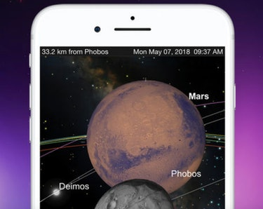 Peep Mars with SkySafari