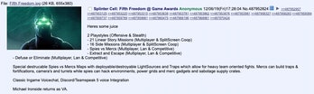 splinter cell game awards rumors