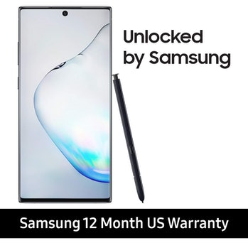 Samsung Galaxy Note 10+ Plus Factory Unlocked Cell Phone with 256GB (U.S. Warranty), Aura Black/ Note10+
